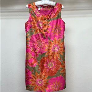 Dressbarn Floral Sleeveless Midi Dress